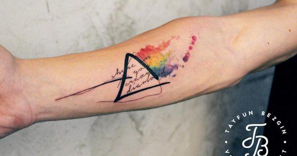 Pink Floyd Tattoo Duhh: Shine On You Crazy Diamond. Pink Floyd Tattoo By Tayfun