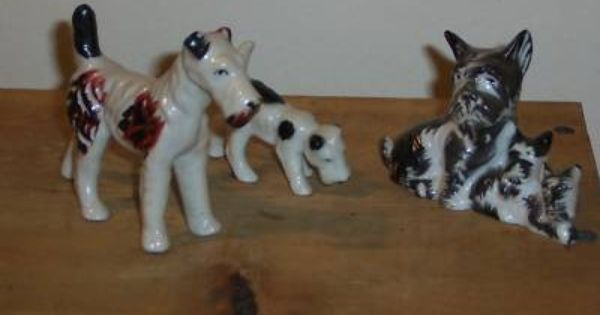 Occupied Japan Dog Figurines Dog Art Dog Figurines Animal Figurines