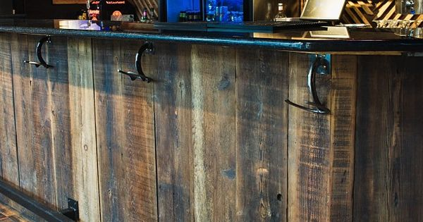 Paulie S Toasted Barrel Reclaimed Wood Bar Bars
