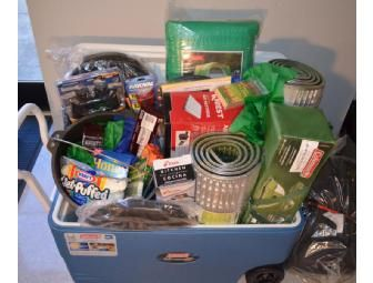 Everything You Need Camping Basket Poore S Class Camping Gift Baskets Raffle Baskets Auction Baskets