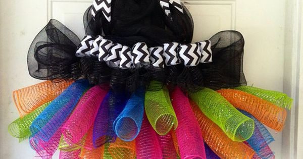 labor day sale extra large whimsical witch tutu witches legs witch hat deco mesh wreath. Black Bedroom Furniture Sets. Home Design Ideas