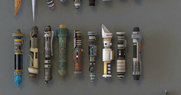 Lightsaber hilts from Star Wars: The Old Republic. I'm nerding out right