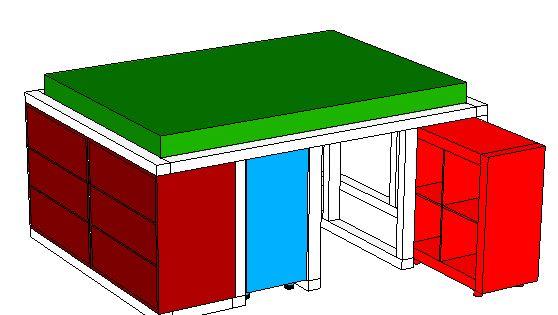 ikea hack aus dem kallax regal und der malm kommode wird ein bett mit unterbauschrank ikea. Black Bedroom Furniture Sets. Home Design Ideas