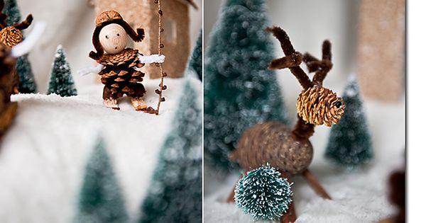 mit naturmaterialien basteln wald weihnachten pinterest schnee selber machen und basteln. Black Bedroom Furniture Sets. Home Design Ideas