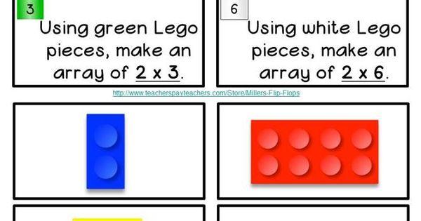 Learning with Legos - Multiplication x2: Common Core - 3.OA.1, 3.OA.5, 3.OA.7.