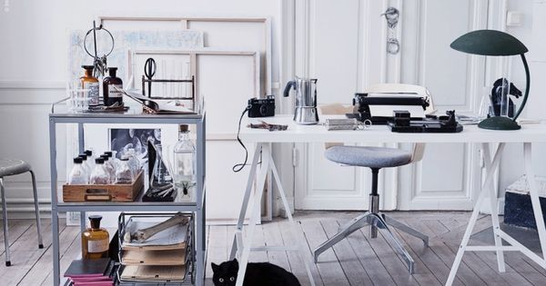 Deckardrottningens skrivh rna med udden rullbord linnmon Ikea escritorios juveniles