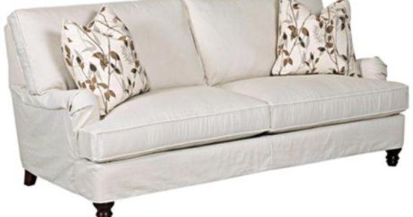 Klaussner Loewy Rift Down Slipcover Sofa 3x148 Furniture Pinterest