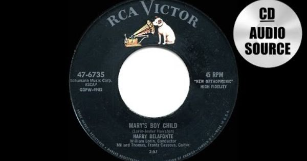 1956 Hits Archive Mary S Boy Child Harry Belafonte Shortened Single Edit Youtube Harry Belafonte Pop Songs Christian Music