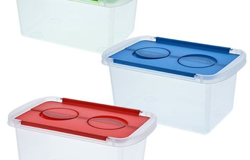 Clear Plastic Storage Boxes With Split Hinged Lids 9x6x4 In Plastic Box Storage Storage Boxes With Lids Storage Boxes