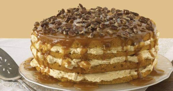 Four Layer Pumpkin Cake : (uses box of yellow cake mix, 398mL