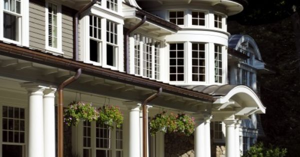 Color Spotlight Benjamin Moore Chelsea Gray White Trim Exterior And Front Porches