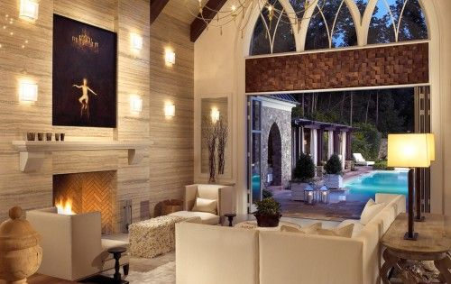 Want this for my pool house idea. This elegant guest house decorated