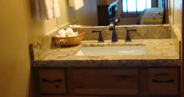 Lakeland village downstairs master bathroom vanity with