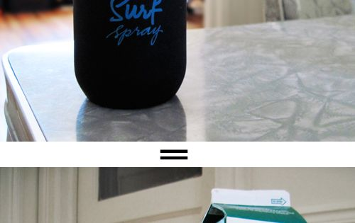 DIY Bumble Surf Spray; 3 teaspoons Epsom Salt 3 squirts Water-Based Hair