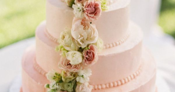 This floral design. YAY! pale pink ombre cake Style Me Pretty Gallery