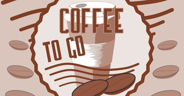 coffee to go schild f r cafe kiosk imbiss lokal tankstelle etc druck stickservice f r. Black Bedroom Furniture Sets. Home Design Ideas