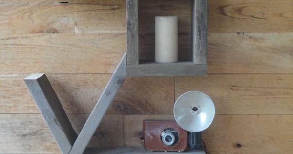 LOVE bookshelf - all 2x4s! CUTE! Would make great wall art!!