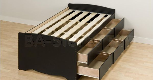 Storage Beds Twin Xl Adult Prepac Tall Twin Platform Storage Bed With 6 Drawers In