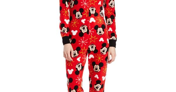disney juniors mickey mouse footed onesie pajama with