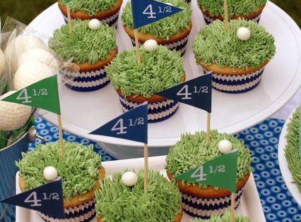 golf cupcakes - groom's cake