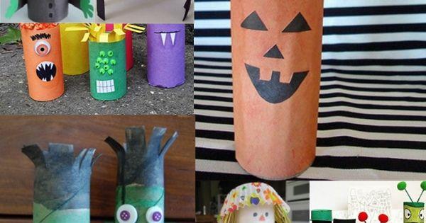 Des Id Es Simples Pour Cr Er Des Personnages D 39 Halloween Avec Des Rouleaux De Papier Toilette
