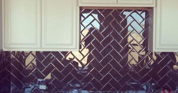 Herringbone Pattern Tile Kitchen