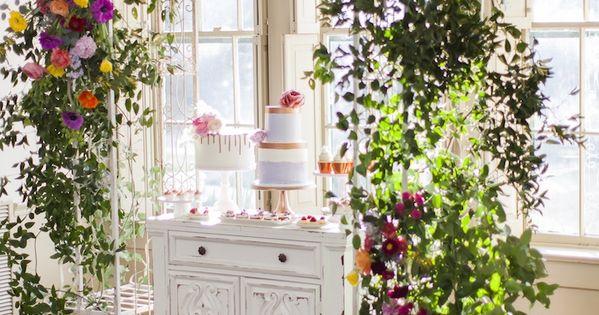 Secret Garden: Floral Garden Arch Dessert Spread From A Secret Garden