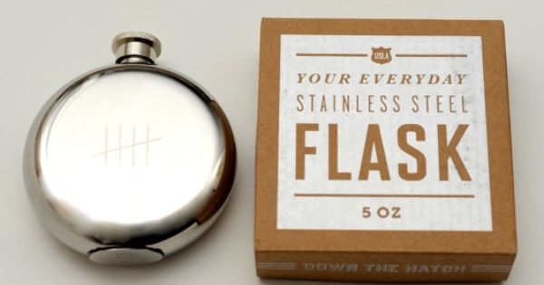 A good groomsman gift - Stainless Steel flask with inscription : May