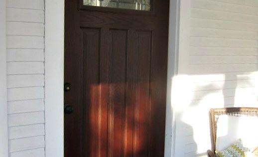 Fiberglass Doors That Look Like Wood : Learn how to stain an embossed fiberglass door look