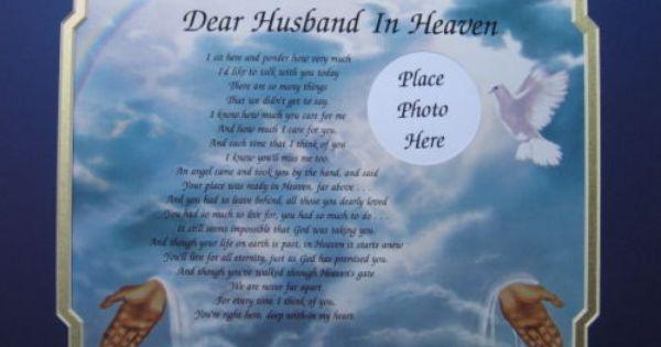Dear Husband In Heaven Memorial Poem Loss Of Loved One