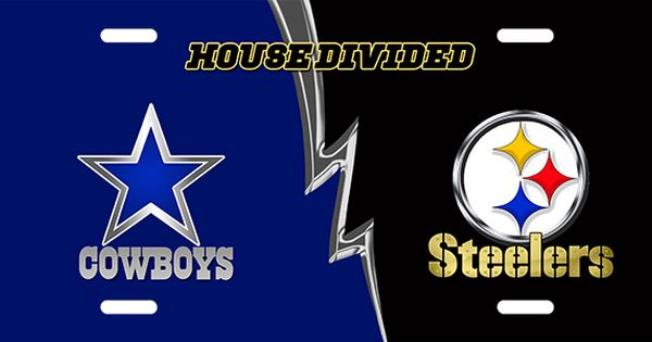Cowboys Vs Steelers House Divided License Plate License Plate Cowboys Vs Steelers House Divided License Plate License Cowboys Vs Car Plates House Divided