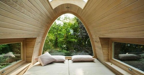 Love the windows and bed for a loft in a tiny house