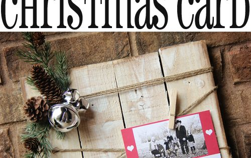 Very CUTE Christmas Card Display at Shanty-2-Chic.com // Great photo display for