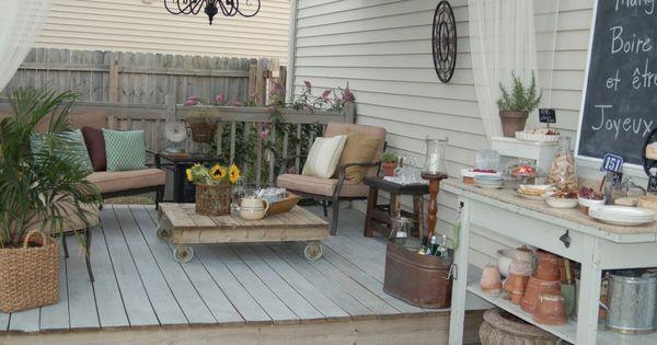 Terraza rom ntica y vintage muebles de terraza for Muebles terraza casa