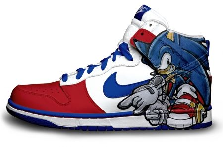 izquierda Punta de flecha código  21 Amazing Customized Nike Dunks | Sonic shoes, Sneakers, Sneakers ...
