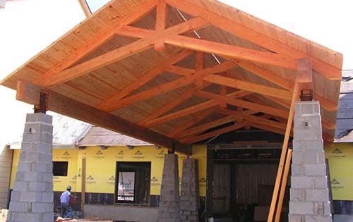 Modified Scissor Truss Ridge Crest Nc Exterior Timber