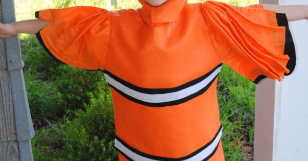 Sale nemo fish inspired costume clown fish by for Clown fish costume