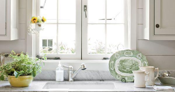 Kitchen Backsplash Cottage Makeover Pewter Style And