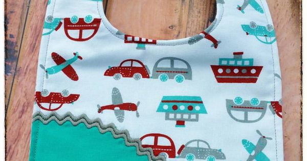 Cute Personalized Boys Bib Cars Boats Planes By