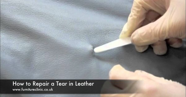 This Video Demonstrates How To Repair A Tear In Leather