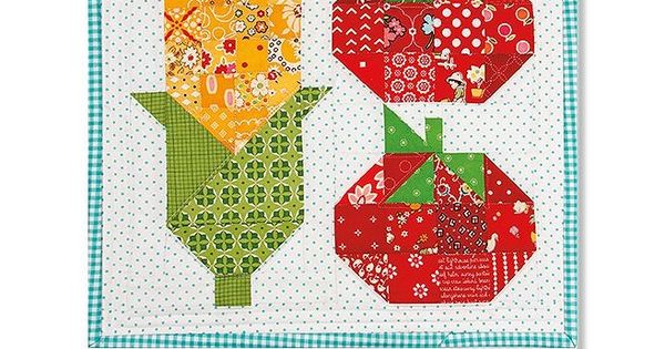 Corn Amp Tomatoes 2 Downloadable Pdf Mini Quilt Pattern Bee