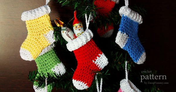 Cutlery Christmas Stocking Knitting Pattern : crochet-pattern-crochet-christmas-stocking-ornaments - Haken & Breien: Ke...