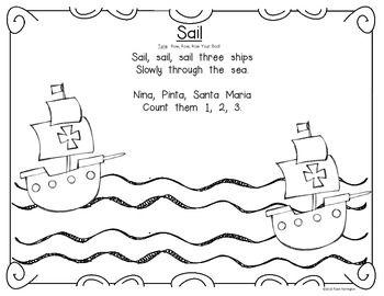 Columbus Day Interactive Singin Storyboard For Kindergarten And First Grade Preschool Songs October Classroom Kindergarten Fun