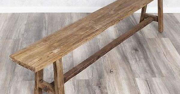 Shabby Chic Holzbank Massivholz Bank 165cm Holz Sitzbank Teakholz Teak Vintage Holzbank Rustikal Holzbank Sitzbank Holz
