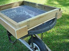 Building A Soil Sifter Screen To Remove Rocks Stones And Chunks From Dirt And Compost Soil Landscaping Rock Garden Power Tools