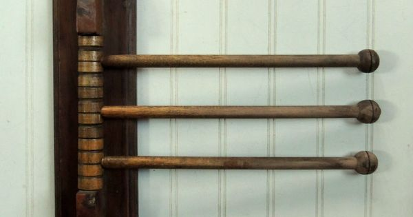 Unusual Antique Primitive Wood Drying Rack Country Kitchen