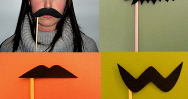 Mustache on a Stick. My kind of Halloween costume!