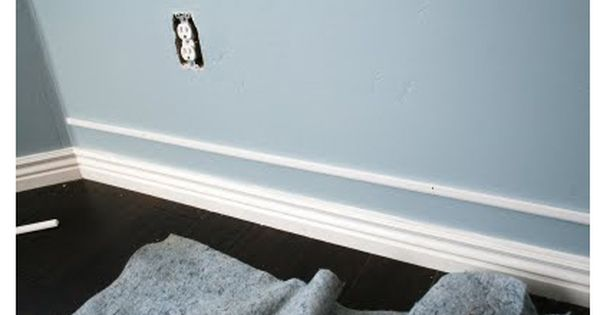 Doing this in the new house! Add a strip of trim a