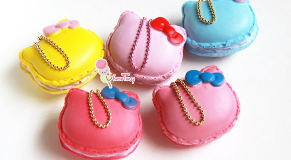 Hello Kitty Squishy Macaron Charm by UberTiny on Etsy squishy wish list Pinterest Hello ...