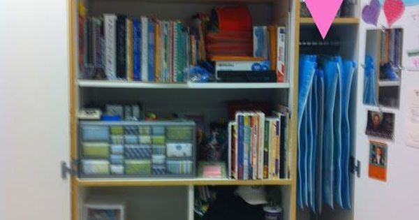 Easy and cheap way to organize and store anchor charts and Cheap and easy organizing ideas